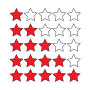 Rating stars icon - stock illustration