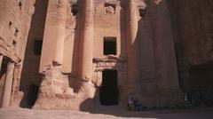 Ancient City of Petra Built in Jordan. - stock footage