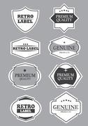 Stock Illustration of Vector decorative retro label design elements