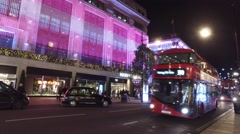 Stock Video Footage of Red Bus Oxford Street