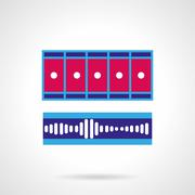 Blue and pink video processing vector icon - stock illustration