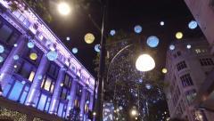Oxford Street Christmas Lights Stock Footage