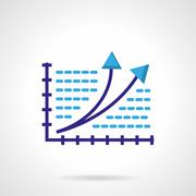 Growth chart color vector icon - stock illustration