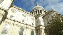 St Paul's Cathedral Top - stock footage