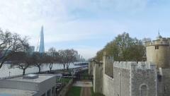 Tower Bridge, The Shard, Tower of London - stock footage