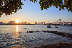 Stock Photo of city scape of odaiba tokyo japan important landmark and traveling destination