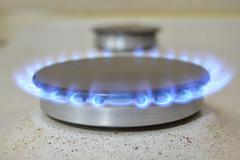 the gas cooker - stock photo