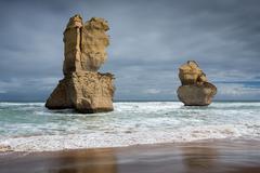 Twelve apostles rock formation Stock Photos