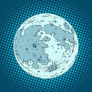 Moon satellite planet Stock Illustration