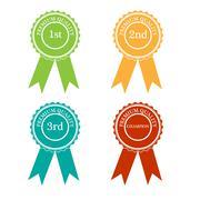 Four version of award - stock illustration