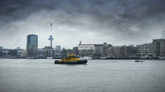 The river of Rotterdam Stock Footage