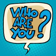 who are you to question bubble comic text - stock illustration