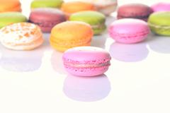 French sweet delicacy macaroons Stock Photos