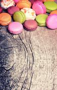 french sweet delicacy macaroons - stock photo