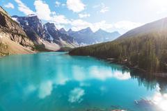 Stock Photo of Moraine lake