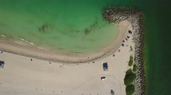 Top view freeze aerial video of Haulover Beach, Miami, Florida. 4K. Stock Footage
