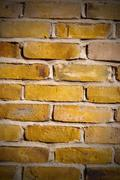 In london   the    abstract    texture of a ancien wall and ruined brick Stock Photos