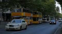 Morning traffic on Kurfurstendamm in Berlin Stock Footage