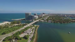 Aerial video of Haulover Park and Bal Harbour, Miami. The camera freezes. 4k. Stock Footage