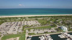 Panoramic Aerial video of Haulover Park and Bal Harbour, Miami, Florida. 4k. Stock Footage