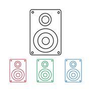 Audio speakers icon Piirros