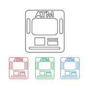 Atm Icon Stock Illustration