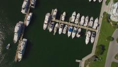Top view Aerial video of Haulover Marina, Miami, Florida. 4k, real time. Stock Footage