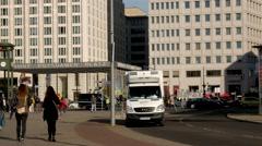 The Ritz-Carlton hotel on Potsdamer Platz in Berlin Stock Footage
