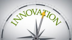 Compass innovation Stock Footage