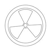 Radioactivity sign icon - stock illustration