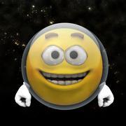 Astronaut smiley - stock illustration