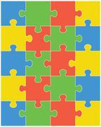 Colorful shiny puzzle Stock Illustration