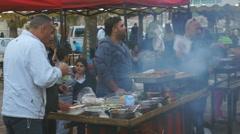 street scene in old city of the Jerusalem Stock Footage