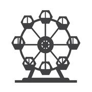 Ferris wheel icon - stock illustration
