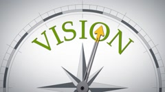 Compass vision - stock footage