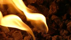 Fireplace Flame - Event Room - Loop - 03 - stock footage