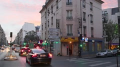 Crossroad traffic against hotel Metropole Lafayette Stock Footage