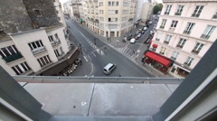 Crossroad car and pedestrian traffic against hotel Metropole Stock Footage