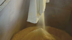 View of a Cornflour flow through the mill. Stock Footage