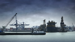 Port of Rotterdam Stock Footage