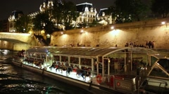 Pleasure boat trimaran Isabelle Adjani with passengers floating Stock Footage
