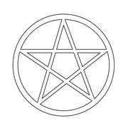 Pentagram icon - stock illustration