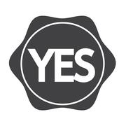 Stock Illustration of Yes button icon