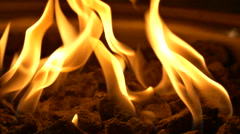 Fireplace Flame - Event Room - Loop - 07 - 25fps Stock Footage