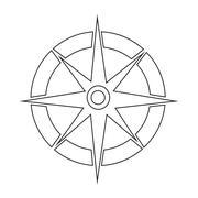 Compass icon Stock Illustration