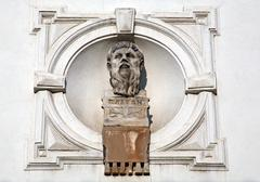 Platon, Greek philosopher, sculpture at Zagreb's Upper town - stock photo