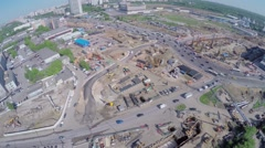 Building site of MKZD North-Eastern Tunnel near Shelkovskoe highway Stock Footage