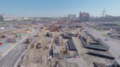 Construction site of MKZD North-Eastern Tunnel near speedway - stock footage