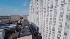 Exterior of residential complex Aerobus at spring sunny day Stock Footage