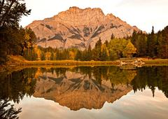 Valley of the Ten Peaks, Moraine Lake, Reflection Stock Photos